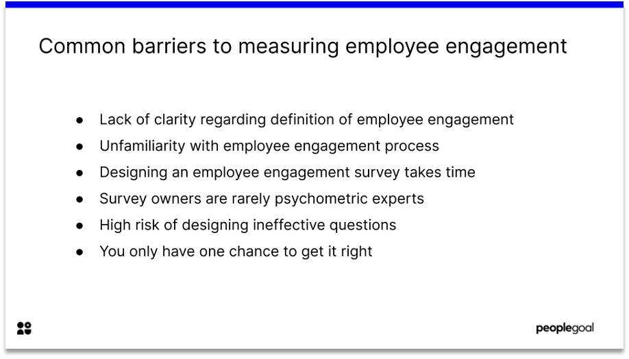 benchmarking engagement survey metrics common barriers