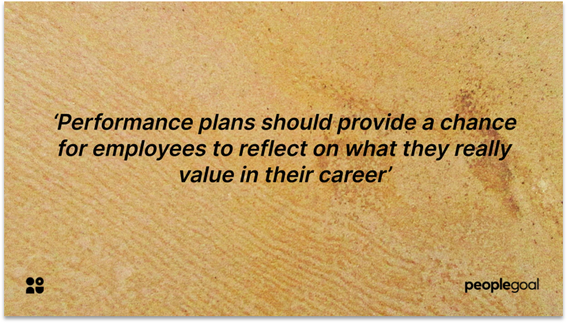 Self reflection for Performance Planning