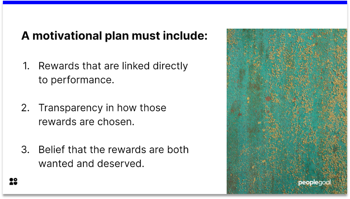 expectancy theory motivational plan