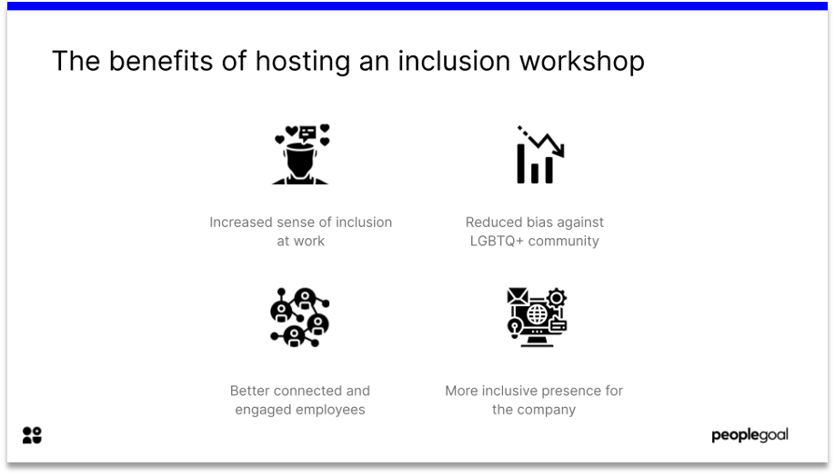 the benefits of hosting an inclusion workshop in pride month