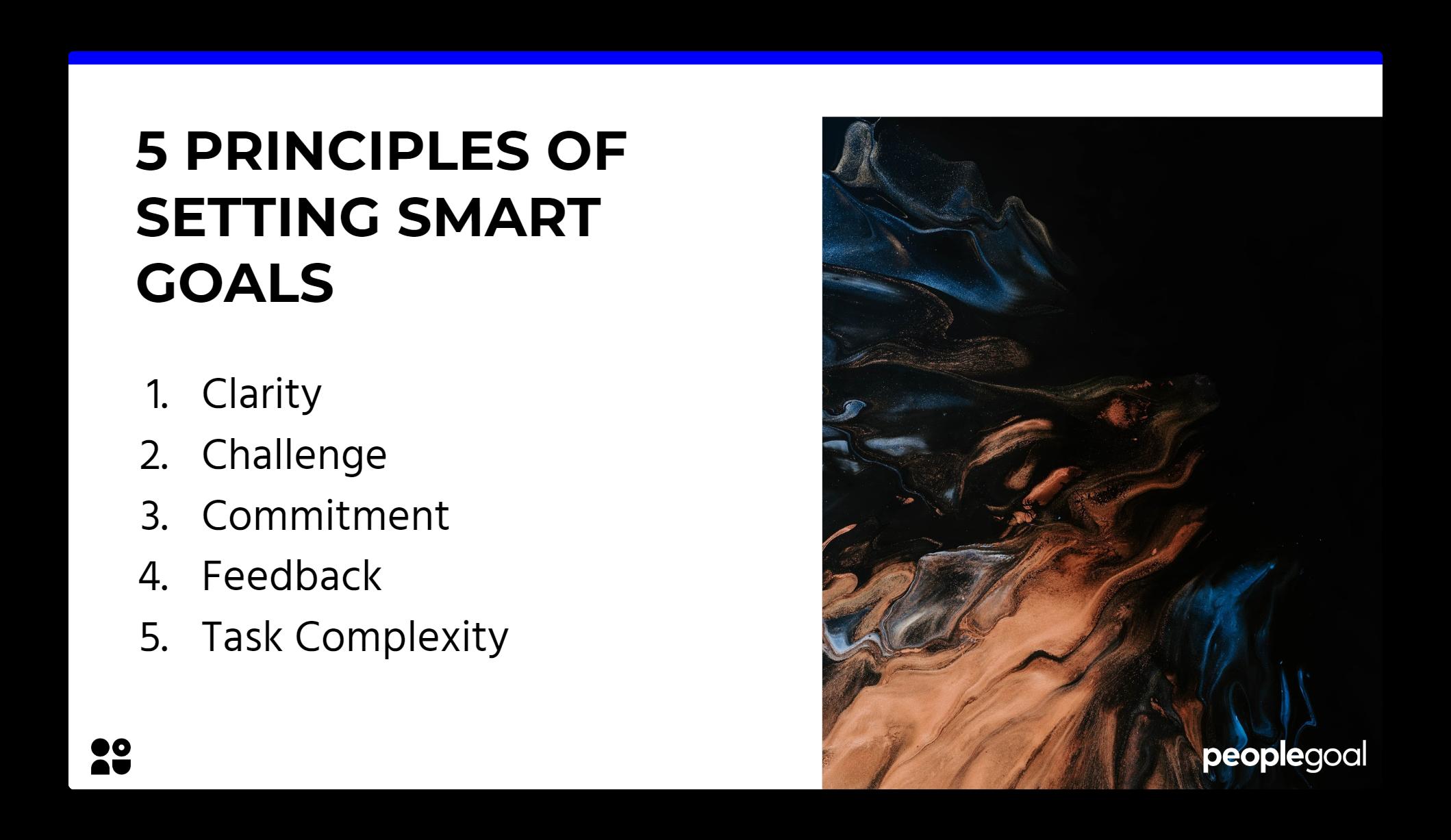 SMART goals principles