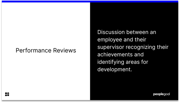 Performance Reviews - definition