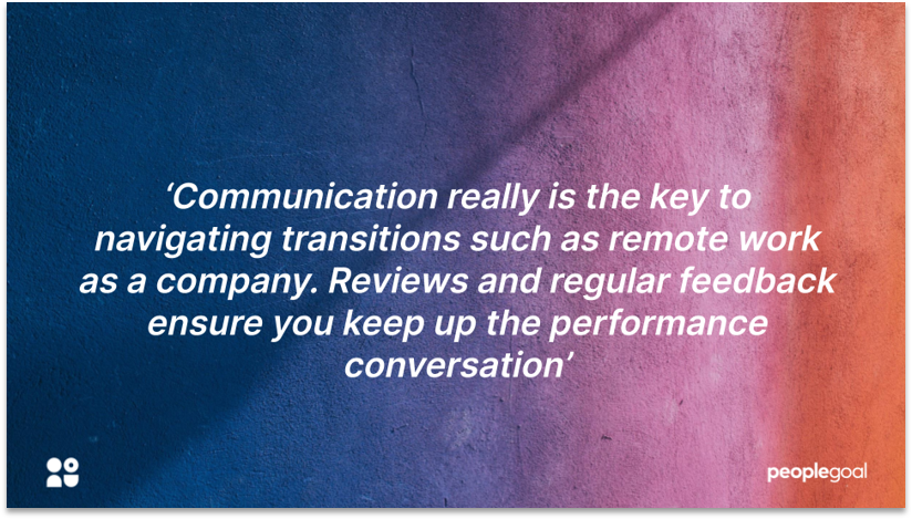 Performance reviews - Communication is key