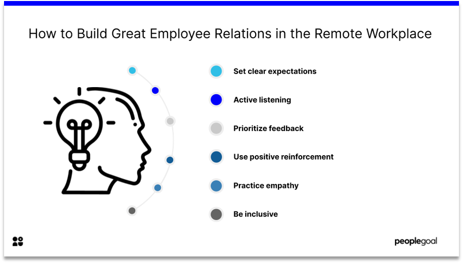 how to build great employee relations work from home