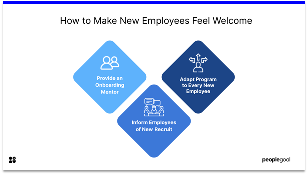 Onboarding - make new hires comfortable