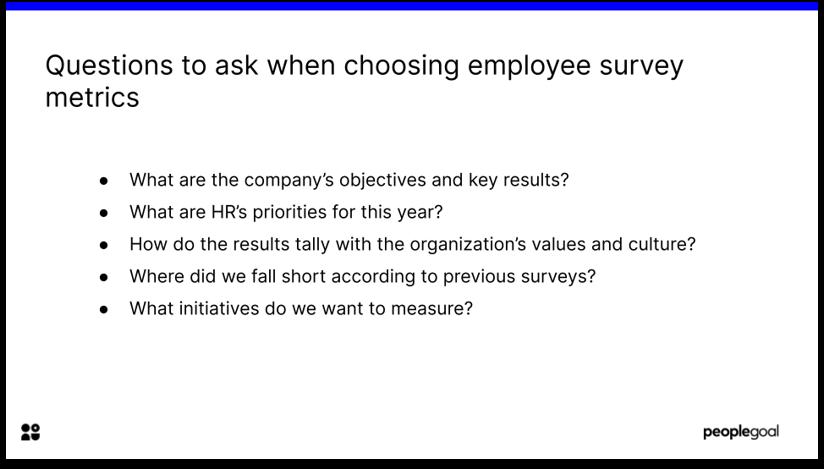employee survey metrics