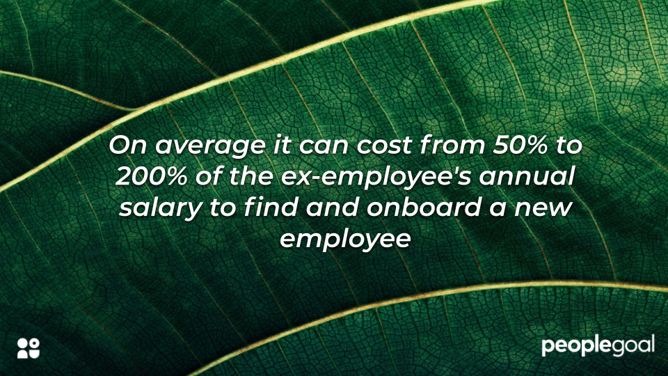 Statistic on expense of onboarding to replace old employee