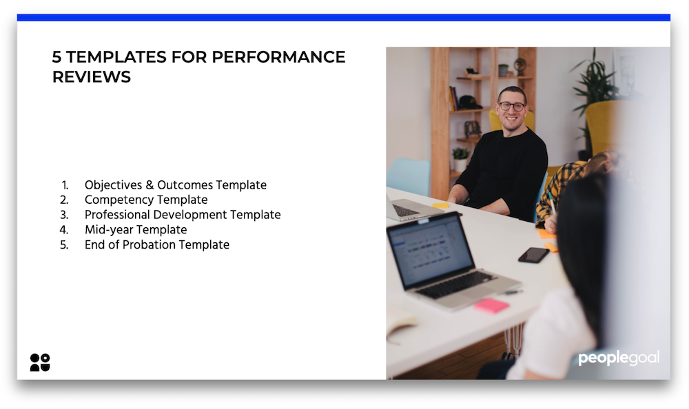 5 templates for performance reviews