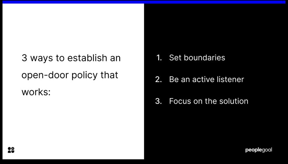 open door policy 3 ways to make it work