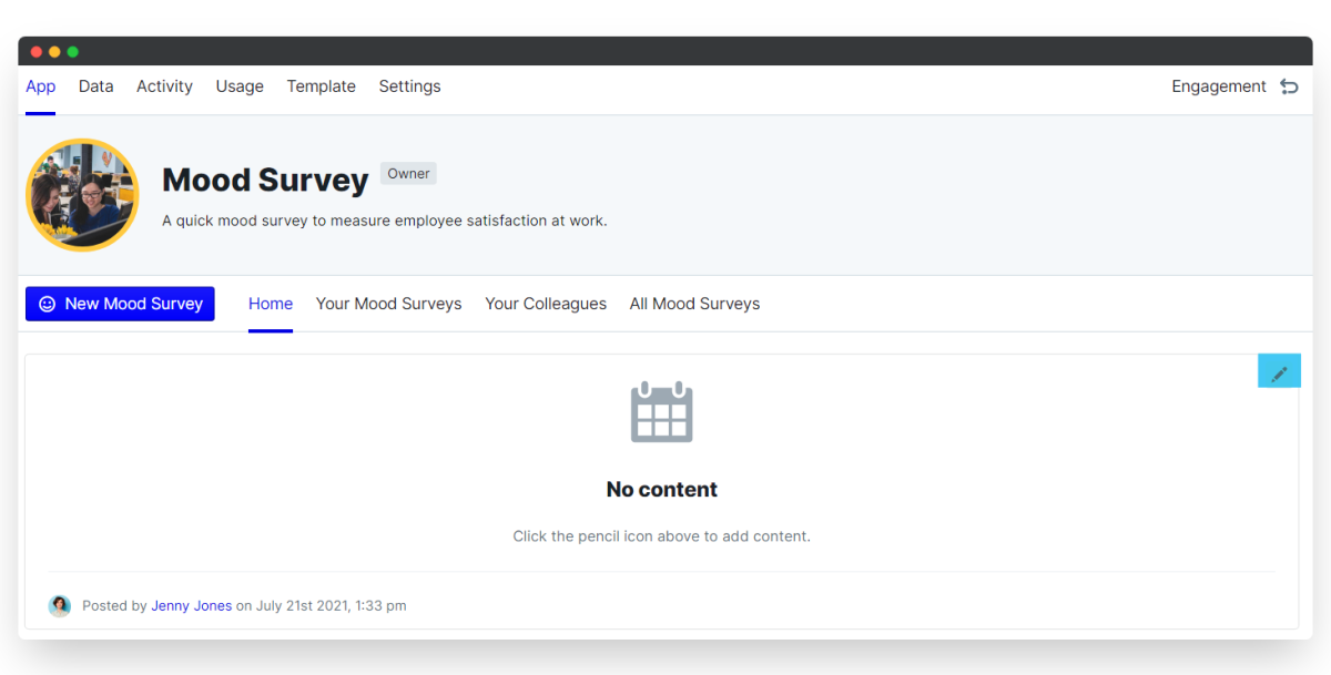 mood survey - edit schedule
