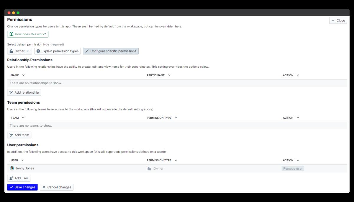 company culture survey - configure permissions