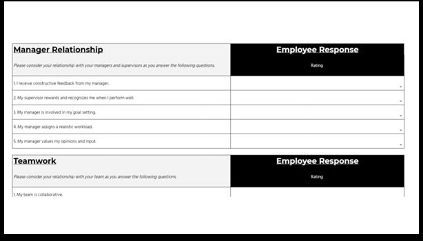 Employee Engagement Survey Template - anonymous survey