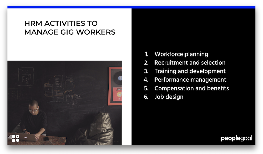gig workers hrm activities