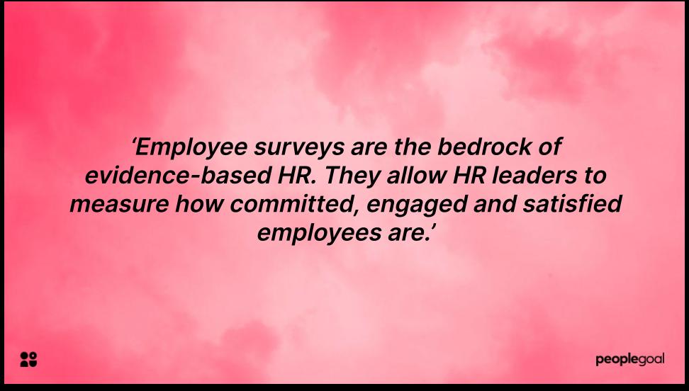 Employee survey quotation