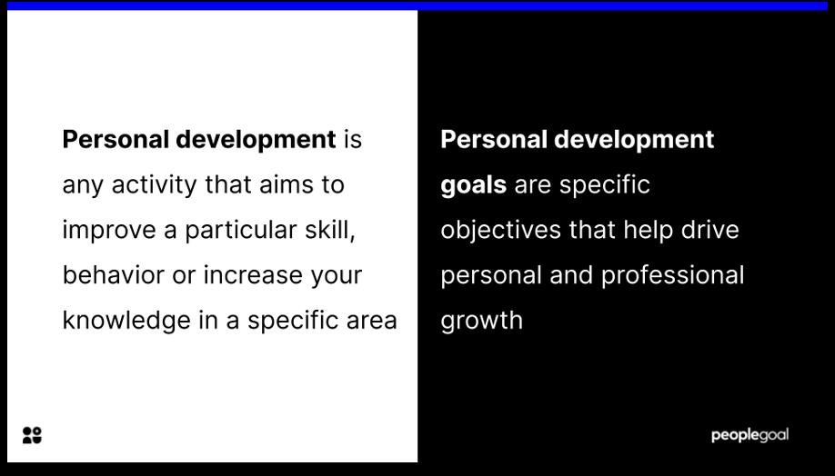 personal development goals definition
