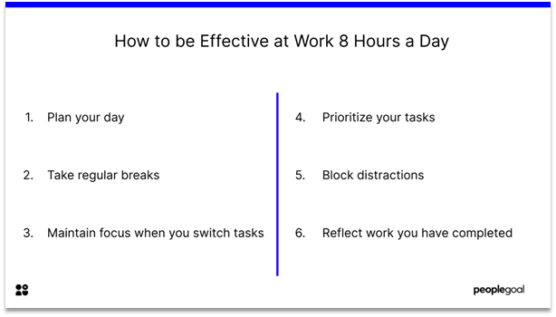 Effective at Work - how to be effective 8 hours a day