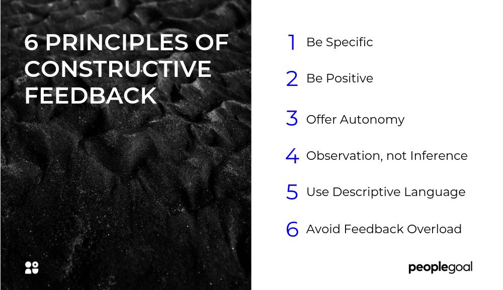 Constructive Feedback Principles