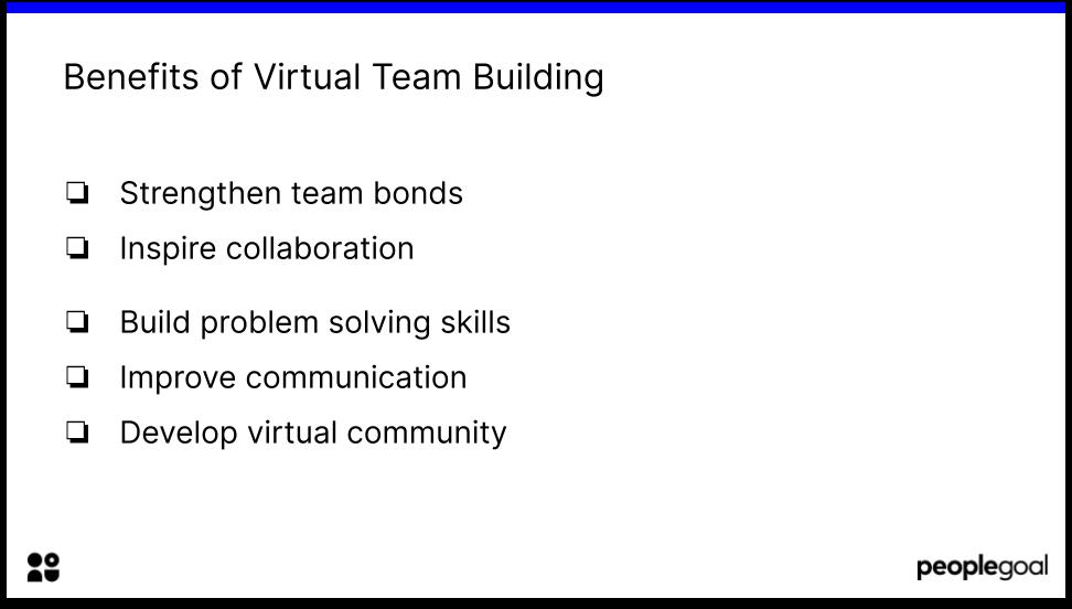 Benefits of Virtual Team Building
