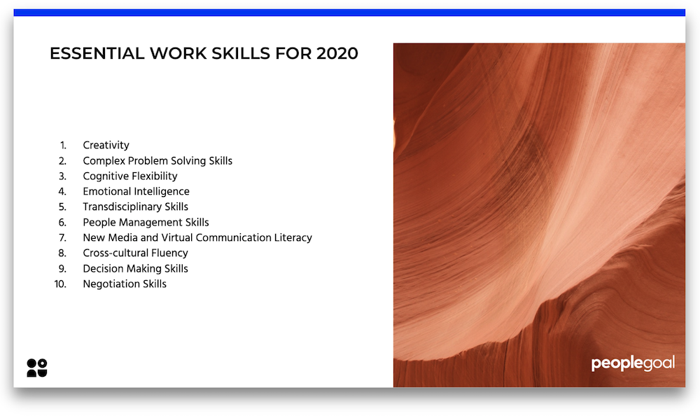 work skills for 2020