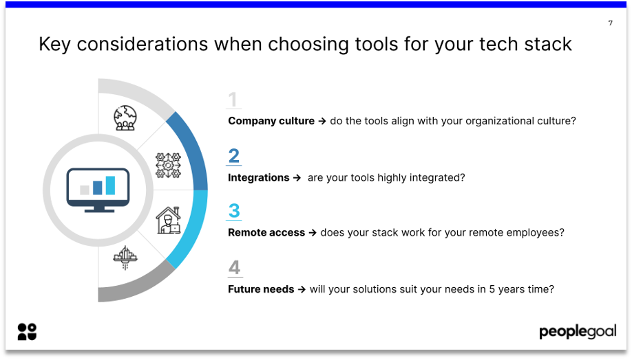 key considerations when choosing tools for your hr tech stack