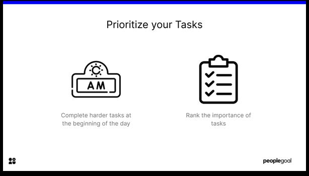 Effective at Work - prioritize tasks