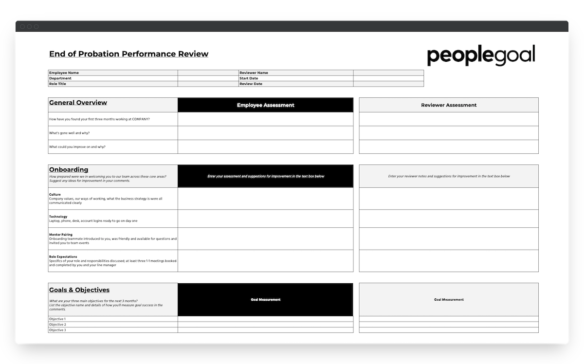 peoplegoal probation performance review template