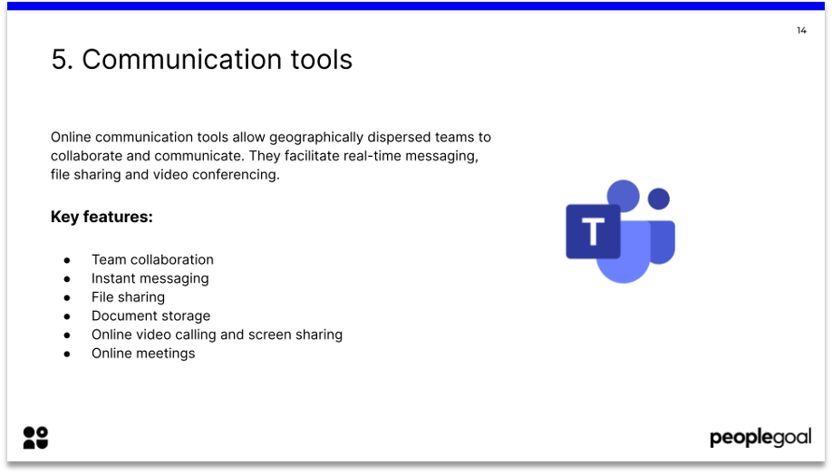 hr tech stack communication tools