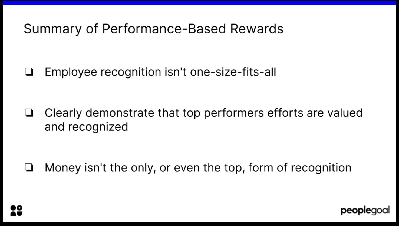 summary of performance-based rewards