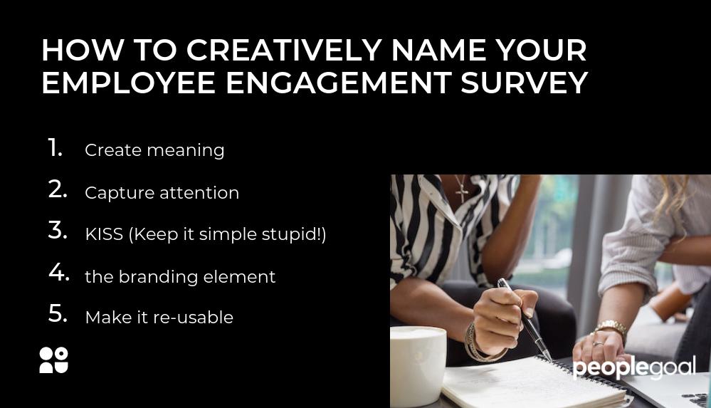 Employee Engagement Survey Names