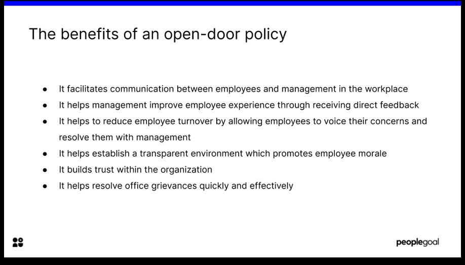 open door policy benefits