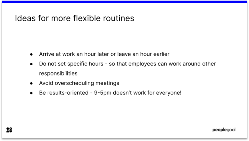 Flexibility and reduced hours Working Parents