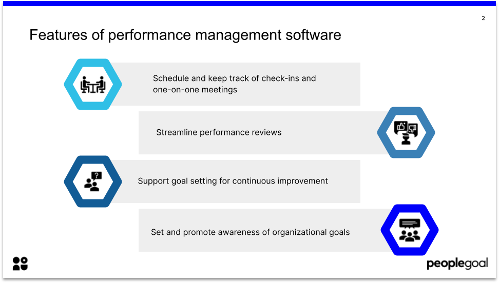 Performance management software features