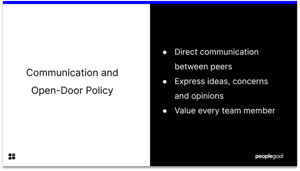 Employee Engagement - communication and open door policy