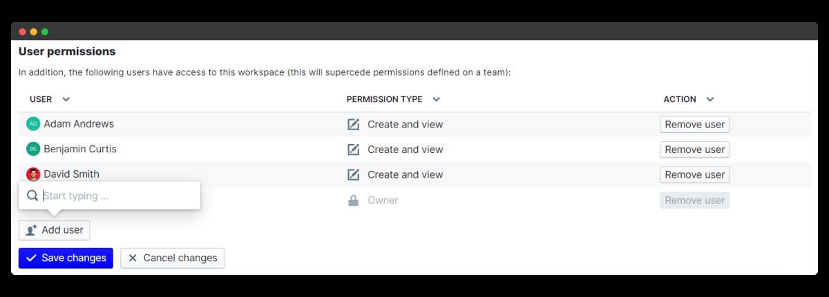 employee engagement survey - change user permissions