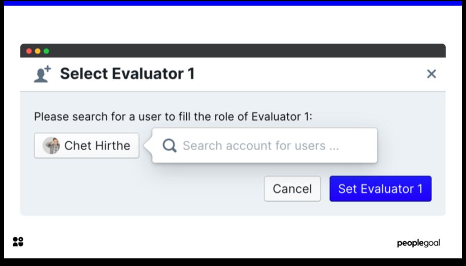 360 feedback select new evaluator