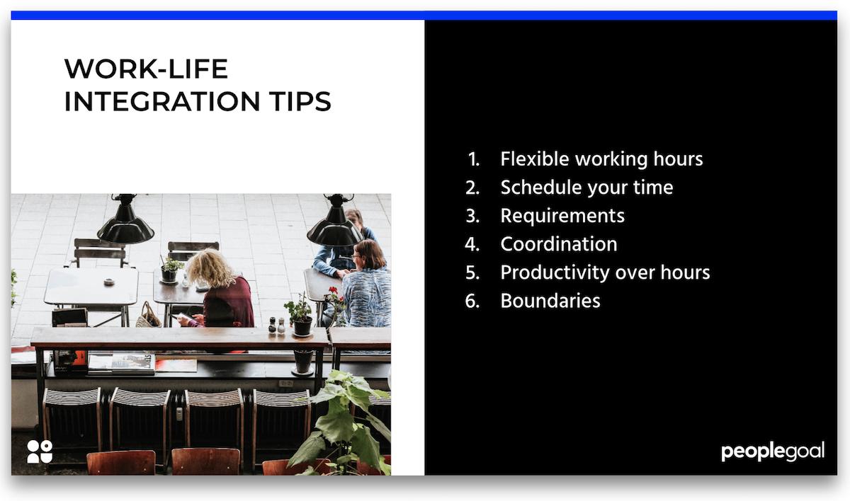 work life integration tips peoplegoal