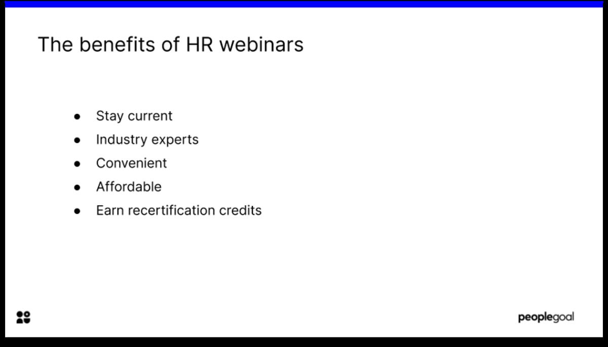 top 10 hr webinar themes benefits of HR webinars