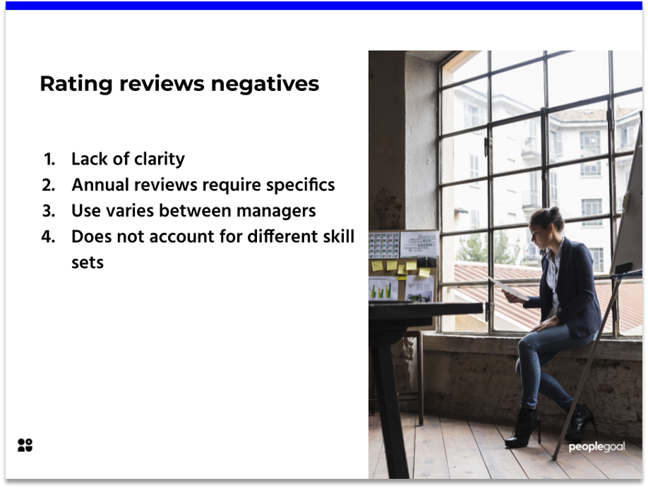 The downsides of performance review ratings