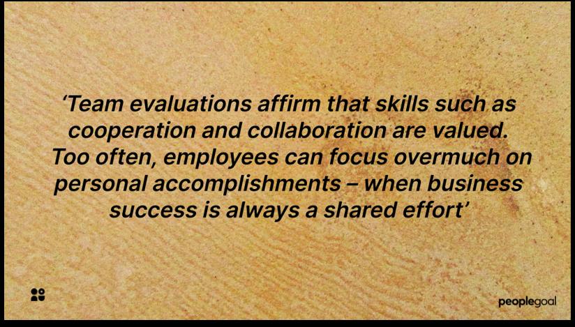 Team Evaluations for Feedback Surveys