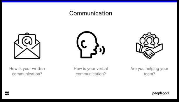 Self-Evaluation - Communication