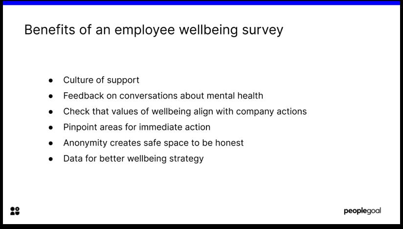 Employee Wellbeing Surveys benefits