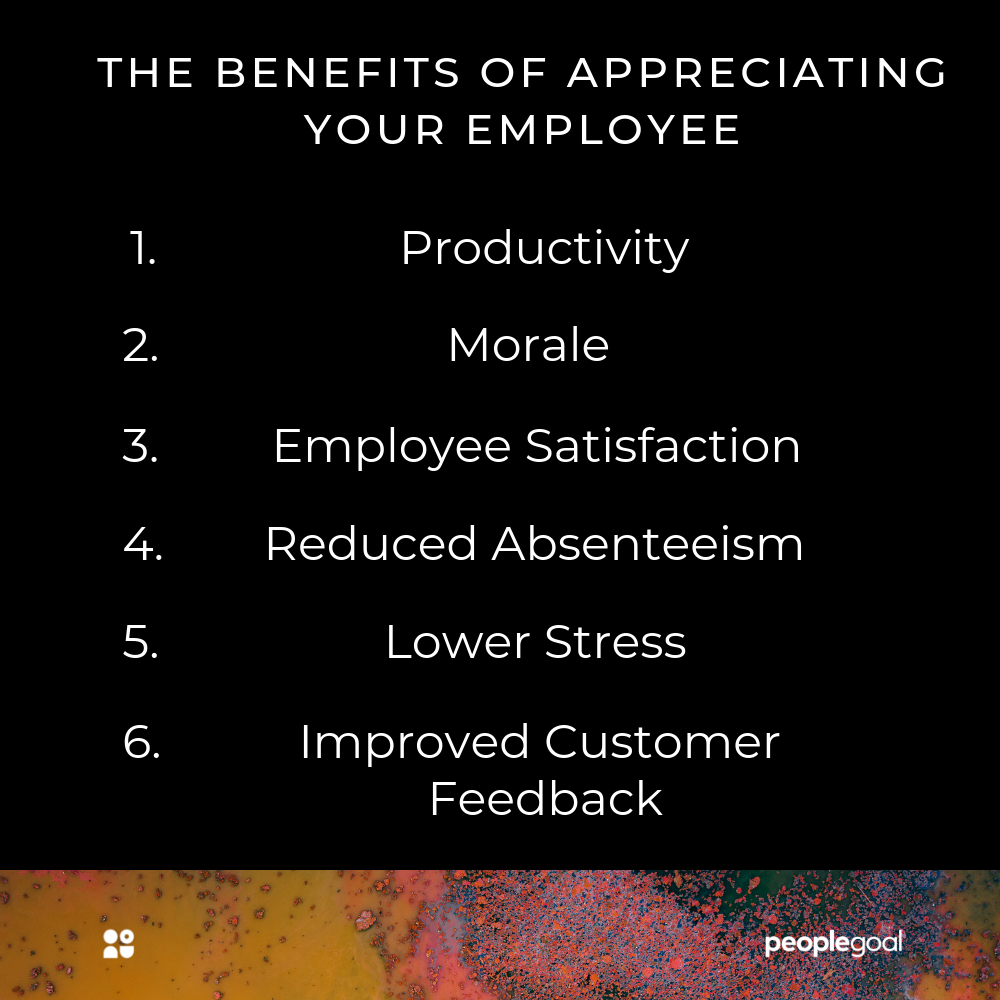 The benefits of employee appreciation