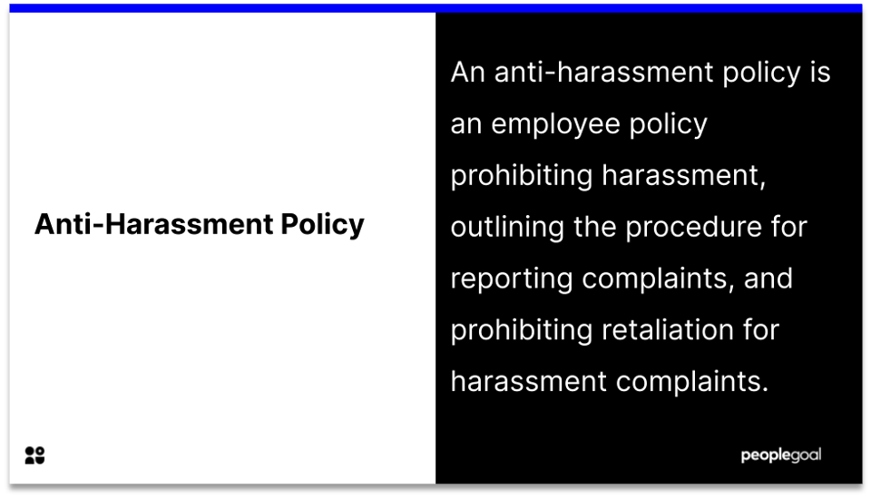 anti-harassment policy definition