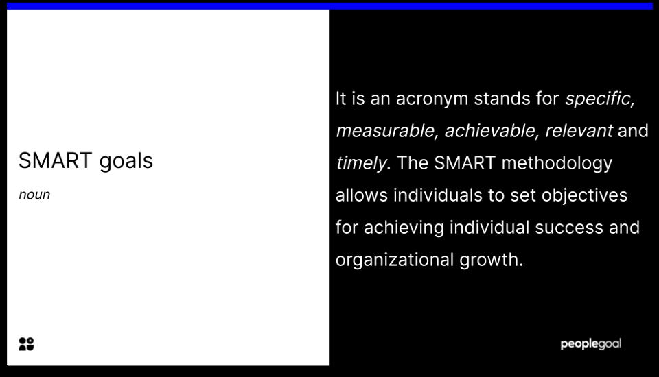 SMART goals - definition