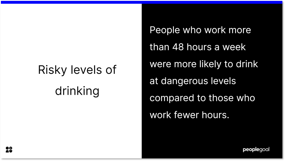 Risky levels of drinking