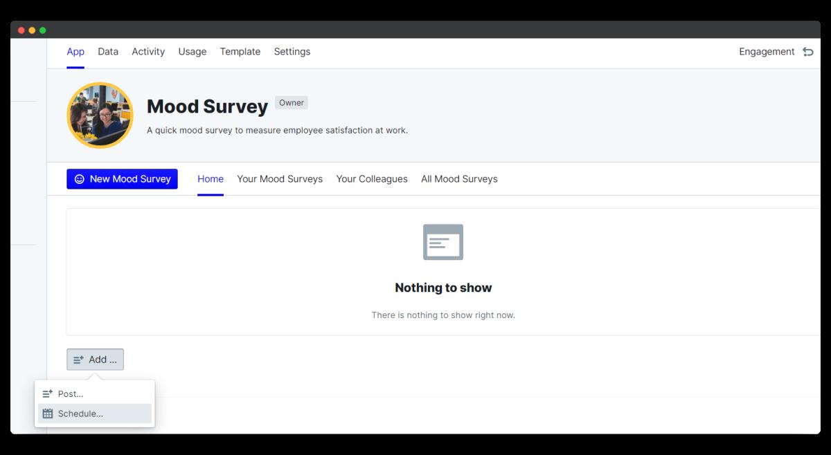 mood survey - add schedule
