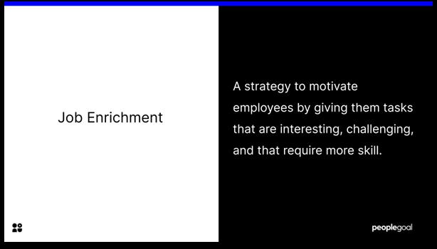 Job Enrichment - definition