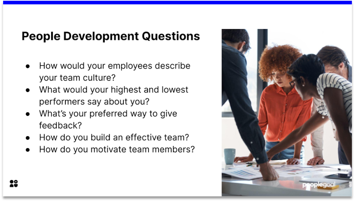 people development manager interview questions