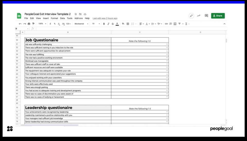Exit interview templates- temp 2