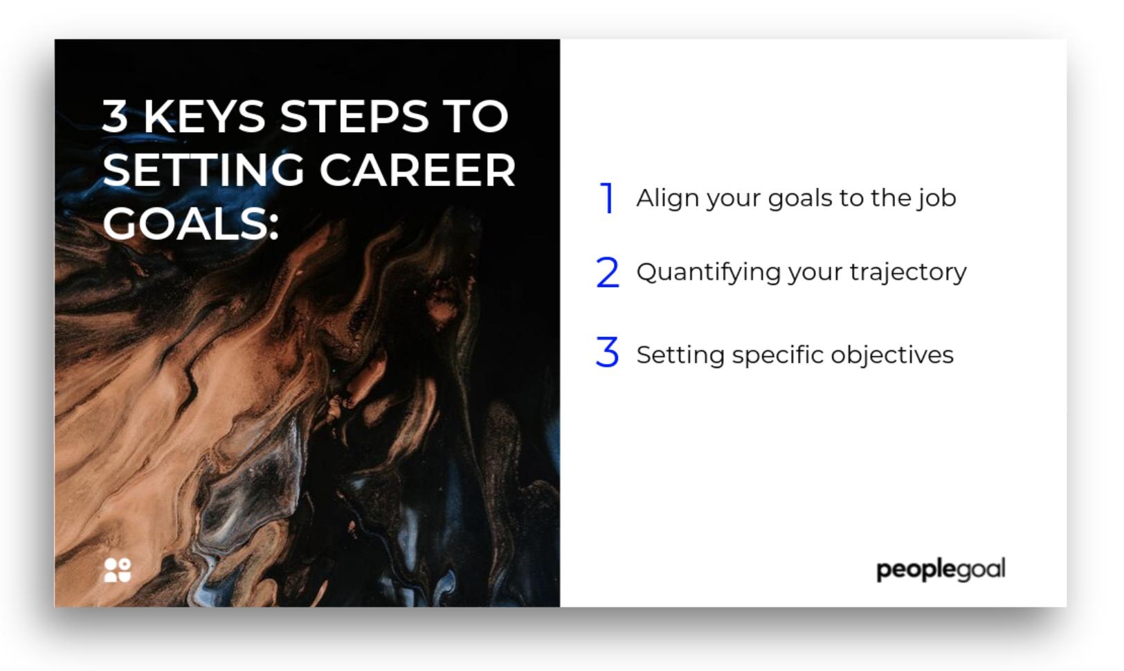 3 key steps to setting career goals